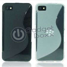BLACKBERRY Z10 S-LINE SILICONE GEL COVER CASE AND SCREEN PROTECTOR