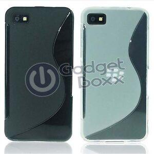 Custodia Per BlackBerry Z10 S-LINE Silicone Gel Sottile Telefono Cover IN Varie