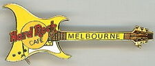 Hard Rock Cafe MELBOURNE 1998 ARIA Guitar PIN - YELLOW - HRC #5432
