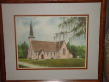 Historical The Church of The Holy Cross Stateburg S. Carolina Sign By Erica Hoyt
