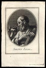 santino incisione 1700 S.LUCA EV.