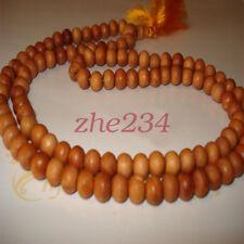 8mm Pure  Sandalwood Buddhist Mala 108 Prayer Beads Necklace bracelet