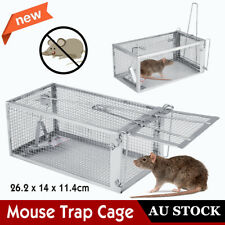 AU Mouse Rat Trap Cage Small Live Animal Pest Rodent Control Bait Catch