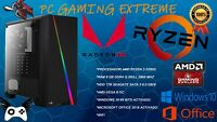 Ordenador gaming sobremesa Amd Ryzen 8GB 1TB VEGA 8 HDMI PC JUEGOS