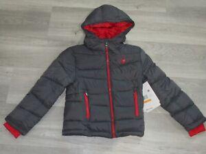 Spyder Therma Web Boys Puffer Jacket Gray 7
