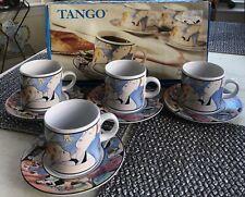 New listing Vtg 1993 Tango Sakura Demitasse Espresso Cups Set Of 4 Cappuccino 5 Oz New