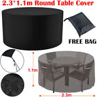 Large Round Waterproof Furniture Cover Outdoor Garden Patio Table Chair Protect