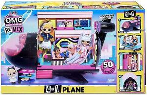 L.O.L. Surprise! O.M.G. Remix 4-in-1 Plane Playset 571339E7C Brand New in Box