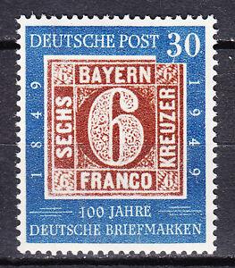 BRD 1949 Mi. Nr. 115 Postfrisch Plattenfehler Strich in 3 von 30 LUXUS! (21517)