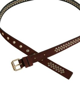 ALL SAINTS PHEA Suede Belt  NEW RED S