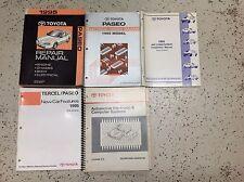 1995 TOYOTA PASEO Service Shop Repair Manual Set W EWD + FEATURES + AC +Factory