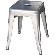 4x Tolix Low Stool Steel Replica Xavier Pauchard Metal Silver - Melbourne VIC