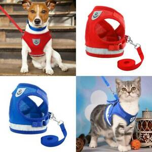 Pet Cat Dog Adjustable Walking Jacket Puppy Escape Proof Mesh Vest Harness Lead*