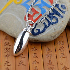 925 Sterling Silver Memorial Cremation Pendant/Urn/ Ash not included chain p92