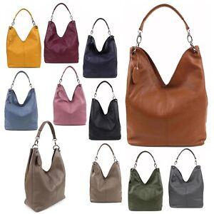 Handtasche Tragetasche Shopper City Schulter Tasche Bag Leder Vintage NEU Damen