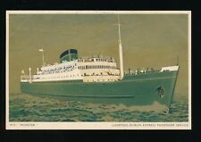 Ireland Shipping MV MUNSTER Liverpool-Dublin Line Used 1952 PPC