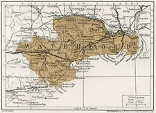 1923 map of Ireland: County Waterford antique ready-mounted print SUPERB