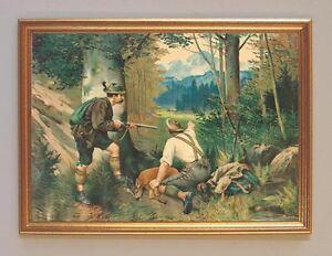 Gute Beute Jagd auf Reh von Ringeisen Jagdbild Wilderer 07 Gerahmt