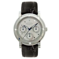 Rotary Ladies Timepieces Black Leather Strap Chronograph Watch