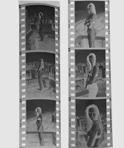 Sexy Supermodel 35mm Film Negative Portrait Pinup Jaime Peters (6 shots)
