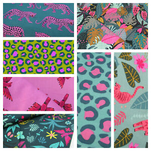 NIGHT JUNGLE - Dashwood Studios 100% cotton fabric - Jungle, leopards, animals