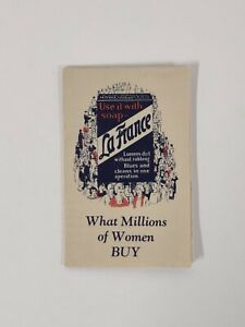 LA FRANCE 1920s Brochure Vintage SOAP Detergent Wash