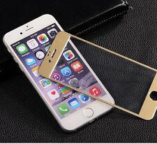 iPhone 6 Protection Écran En Verre Trempé Housse Complet bord à bord Métal Doré