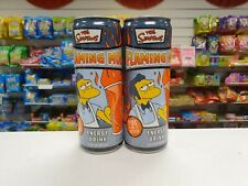The Simpsons Flaming Mo Energy Drink USA Imports x 2 cans