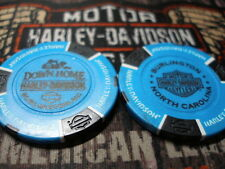 Harley Light Blue & Black Poker Chip Down Home Harley Davidson Burlington, NC