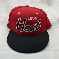 Miami Heat NBA Hat Mitchell & Ness Snapback Red And Black Basketball