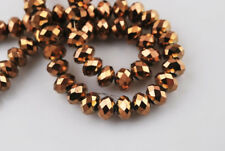 Hot Lots Rondelle Faceted Crystal Glass Loose Spacer Beads 3mm/4mm/6mm/8mm
