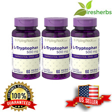 L-TRYPTOPHAN 500mg RELAXATION CALM MOOD ENHANCEMENT PILLS SUPPLEMENT 180 CAPSULE
