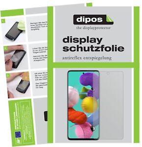 2x Pellicola per Samsung Galaxy A51 Protettiva Protezione Antiriflesso dipos