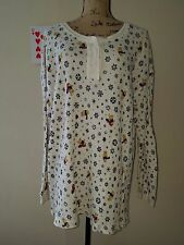 Disney Women's Winnie the Pooh Sleep Shirt Pajama Top L/XL 100% Cotton Textured