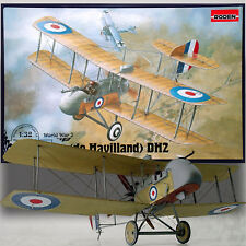 RODEN 1/32 AIRCO (DE HAVILLAND) DH2 BRITISH WWI FIGHTER KIT NO612