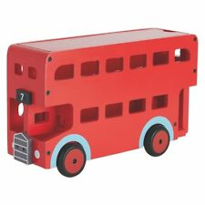 HABITAT WOODEN RED LARGE LONDON BUS  RRP £35 BRAND NEW BOXED DOUBLE DECKER