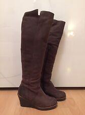 Damen Stiefel Boots Keilstiefel Wedges SCHOLL braun Leder Größe 38 NEUWERTIG 7903ed9306