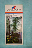 United Airlines Timetable - Oct 25, 1981