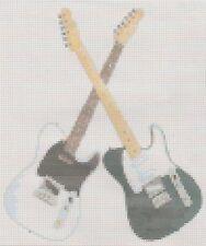 Status Quo Crossed Guitars Counted Cross Stitch  Full Kit