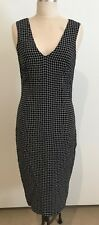 Brand new SABA black and white checked dress, size 8