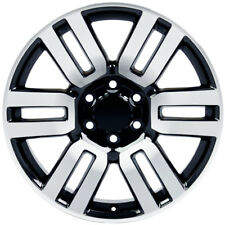 New 20x7 6 Split-Spoke Rim for Toyota 4-Runner Black Machined Face