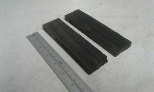 2 Irish Bog Oak Knife Scales 1 1/2'' x 3/8'' x 6'' (37.5mm x 10mm x 150mm)