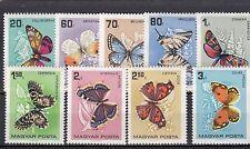 a122 - HUNGARY - SG2150-2158 MNH 1966 BUTTERFLIES & MOTHS