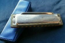 Vintage M.Hohner Blues Harp Harmonica Key of C W/Orig. Case Made In Germany, G+