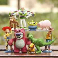 9PCS Toy Story 3 Buzz Lighter Woody Jessie Figures Set Dinosaur Lotso Toys Doll#