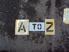 "Used 10"" Parking Lot Alphabet Stencils 1/8"" Ldpe Parking Lot Striping Playground"