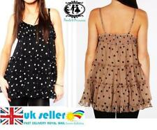 Petite Spotted Sleeveless Casual Dresses for Women