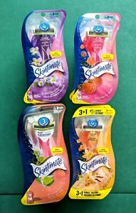 Lot 3 Schick Skintimate Women Razors Sensitive Skin Exotic Violet Raspberr Sugar