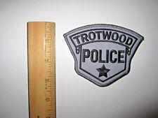 TROTWOOD POLICE EMBROIDERED PATCH MINT UNUSED