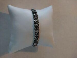 New King Baby Studio Stingray Textured Silver Cuff Bracelet